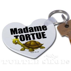 Porte-clé coeur «Madame Tortue»